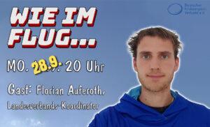 """Livestream """"Wie im Flug"""" mit Beteiligung des FLB"""